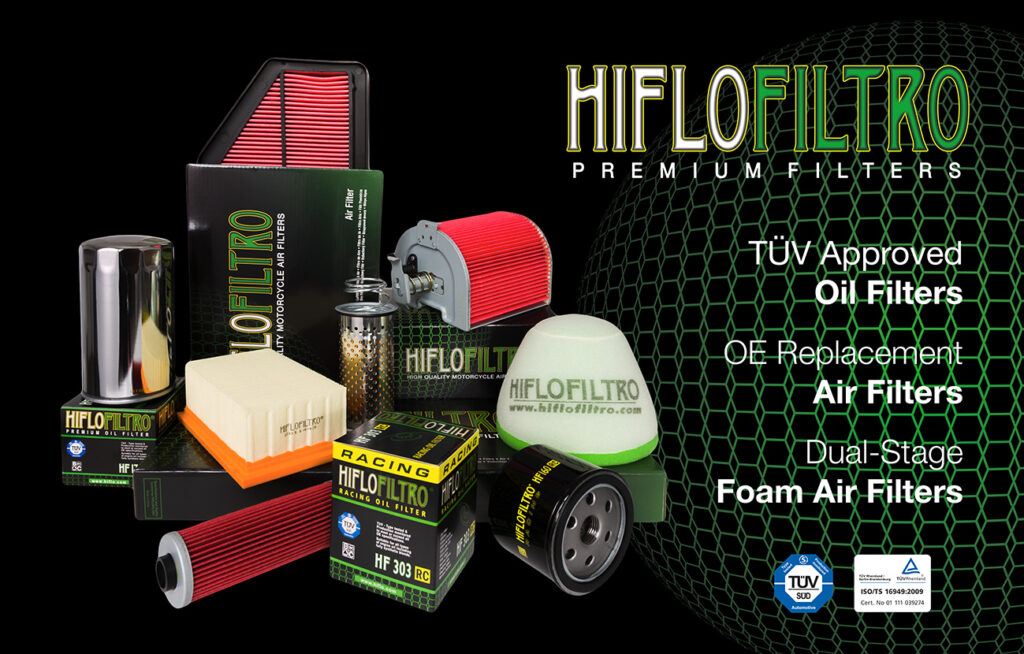 Hi-flo air filters fit in the factory air box